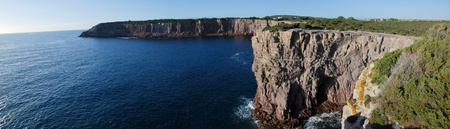 Panoramic view of a cliff Stock Photo