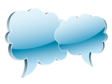 glossy icon of clouds Vector