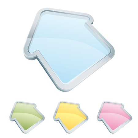 Home icon set in 4 transparent colors Stock Vector - 10746018