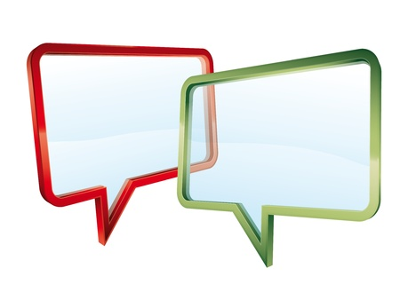 Concept of a transparent conversation Stock Vector - 10771200