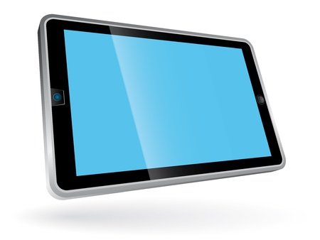Perspective view of horizontal tablet pc photo