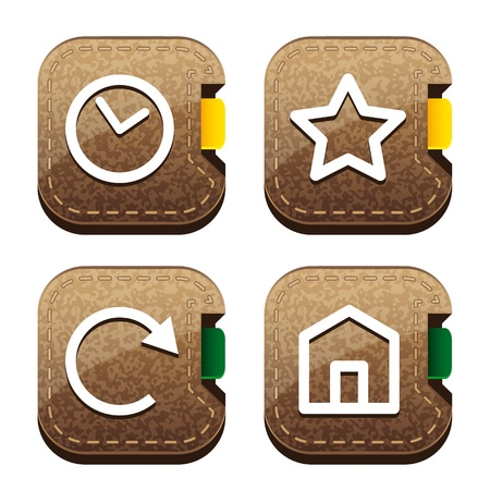 chronology: Set of four brown folder icons for browser