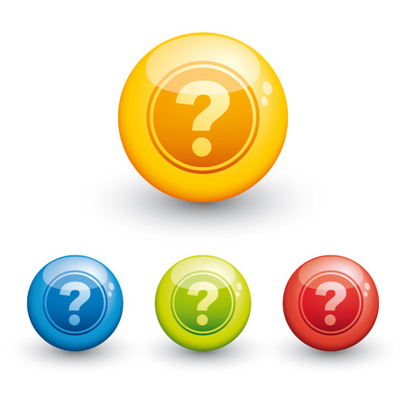 sphere glossy icon - question