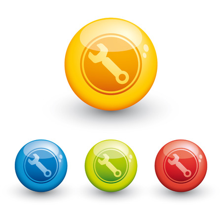 sphere glossy icon - setting