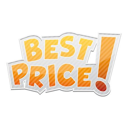 Best price! label on white background Illustration