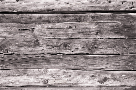 aged planks of larch wood, black and white Stok Fotoğraf