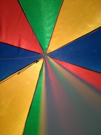 shady: Colorfull Shady Umbrella Stock Photo