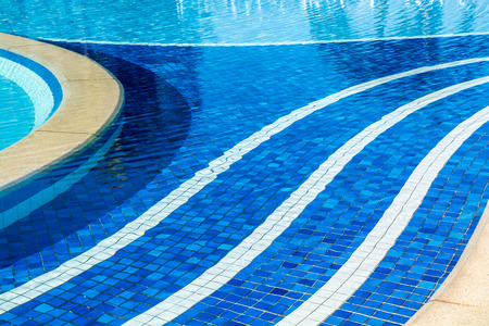reflect: soft focus water surface, sun light reflect, water wave outdoor swimming pool Stock Photo