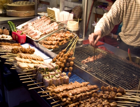 Chinese food vendor market