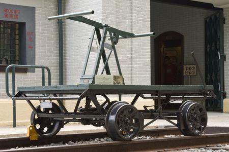 Old railway pump trolley