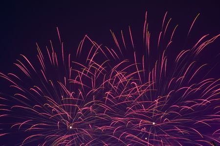 Fireworks on China National Day 2008 in Hong Kong Stock Photo