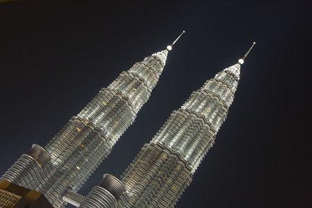Twin Towers in Kuala Lumpur Editorial