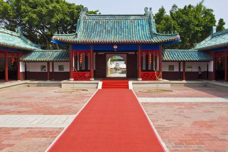 Chinese temple building Stock Photo