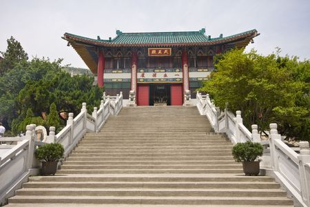 Large temple in Hong Kong China photo