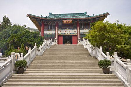 Large temple in Hong Kong China