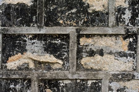 Old grey brick background texture