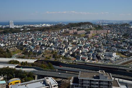 superficie: zona residencial de Yokohama