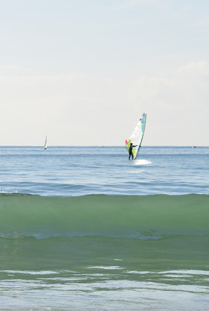 wind surfing: wave and wind surfing