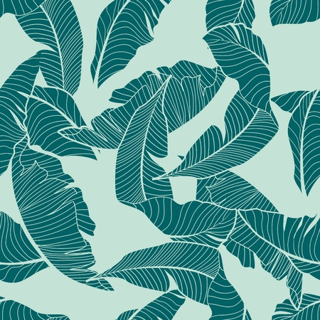 banana leaves: palm pattern