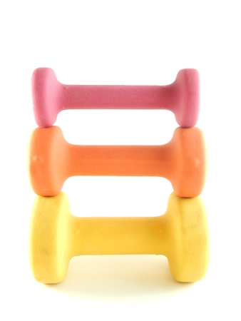 This is a picture of dumbbells on a white background. Imagens