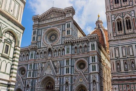 The cathedral of Florence (cattedrale di santa maria del fiore) Stock Photo