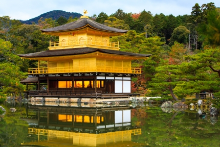 rokuonji: Kinkakuji Temple  Golden Pavilion , officially named Rokuon-ji  Editorial