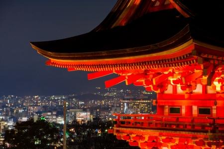 nightscene: City view form Kiyomizu-dera