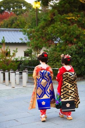 Japanese kimono girl: Các nghệ sĩ nữ Nhật Bản truyền thống ở Kyoto