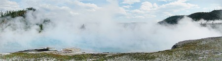 Hot spring in Yellowstone Park