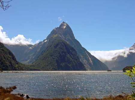 milford: Mitre Peak, Milford Sound, South Island, New Zealand