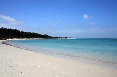 destress: Rangiputa Beach on a beautiful sunny day, Northland, New Zealand Stock Photo