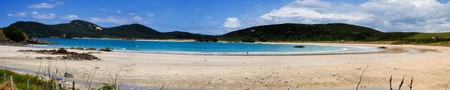 A beautiful panorama of Matai Bay, a popular tourist destination in Doubtless Bay, Northland, New Zealand. photo