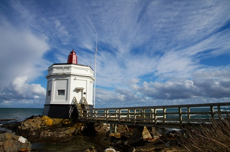 bluff: The Lighthouse at Stirling Point, Bluff, South Island, New Zealand