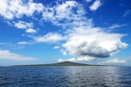 dormant: Rangitoto Island  A dormant volcano located in the Hauraki Gulf, Auckland, New Zealand Stock Photo