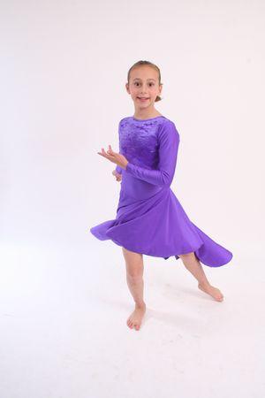 lyrical: girl dancer in purple lyrical dress