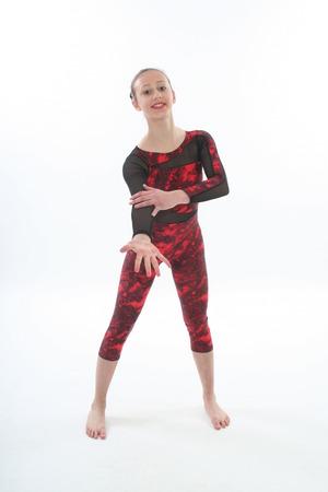 danse contemporaine: Fille en justaucorps de danse contemporaine