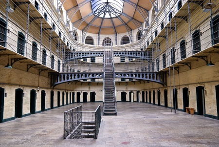 gaol: Kilmainham Gaol (Irish: Príosún Chill Mhaighneann), first built in 1796, is a former prison, located in Kilmainham in Dublin, and played an important part in Irish history.