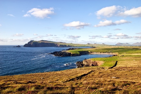 beautiful coast landscape on Dingle peninsula, Ireland photo