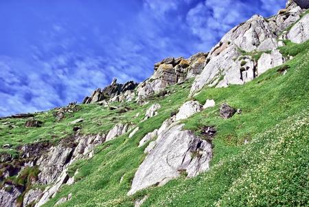 Skellig Michael Island, Ireland - steep rocky coast