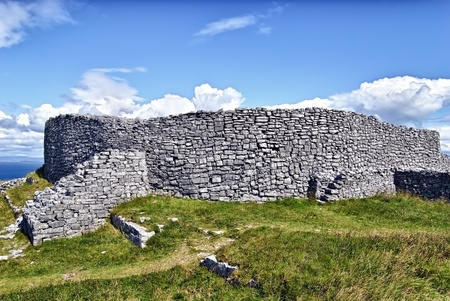 dun: Dun Eochla, Inishmore, Ireland - is a ring fort located at the highest point on Inishmore, the biggest of Aran Islands, and has been built sometime between 550 and 800 A.D. (estimated)