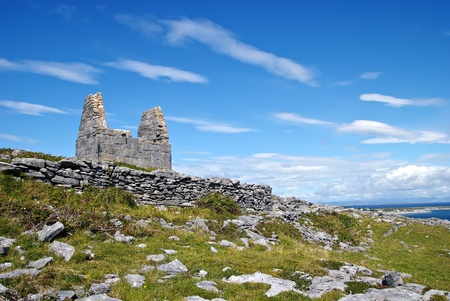 reputed: Teampall Bheanain (Church of Saint Benan) on Inis Mór Island, Ireland. Saint Benan was a contemporary of St. Patrick and his church is reputed to be the smallest in the world (3.7m * 1.8m).
