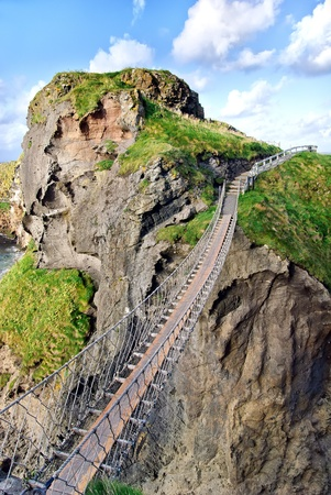 Carrick-a-Rede Rope Bridge Antrim, Northern Ireland Stock Photo - 11605328
