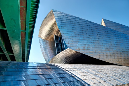 BILBAO, SPAIN - JUNE 03: Guggenheim Museum Bilbao, designed by Canadian-American architect Frank Gehry, one of the most admired works of contemporary architecture,  on June 03, 2010 in Bilbao, Spain. Editorial