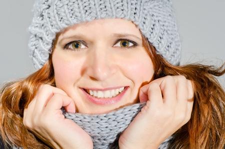 attractive winter beauty photo