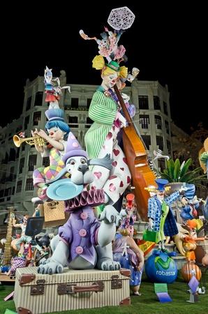 VALENCIA, SPAIN - MAR 16: Falla Almirante Cardaso - Conde de Altea by artist Manuel Algarra finishes 5th in the Secció Especial of the Fallas Festival 2012 on March 16, 2012 in Valencia, Spain