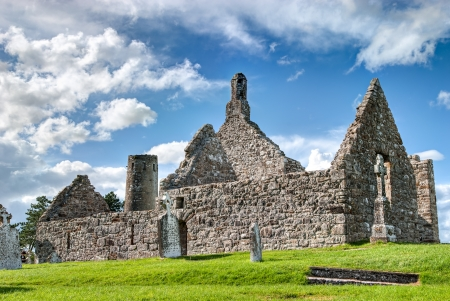Dowling and Hurpan temple of the monastery of Clonmacnoise, Ireland