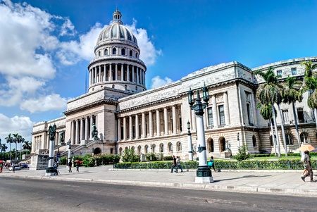 CUBA, HAVANA - AUGUST 21: El Capitolio, or National Capitol Building, former the seat of government and today the home to the Cuban Academy of Sciences on August 21, 2008 in Havana, Cuba