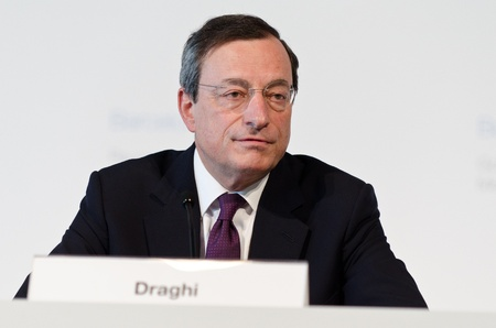 central bank: European Central Bank President Mario Draghi chairs the press conference following the Governing Council meeting of the ECB in Barcelona.