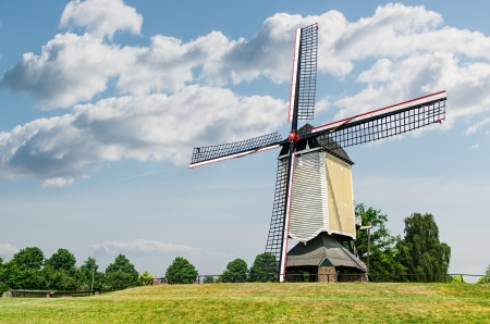 traditional Dutch windmill landscape photo