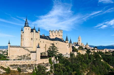 Alcazar of Segovia, Spain - The Alcázar of Segovia is a stone fortification, located in the old city of Segovia, Spain  Editorial